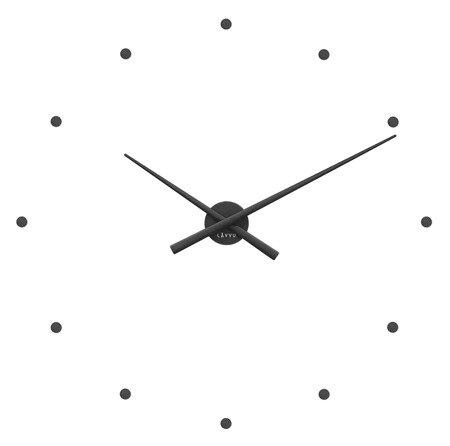 Zegar ścienny naklejany CZARNY 75 cm LCT1021