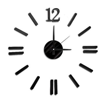 Zegar ścienny naklejany DIY czarny 60 cm MPM E01.3658