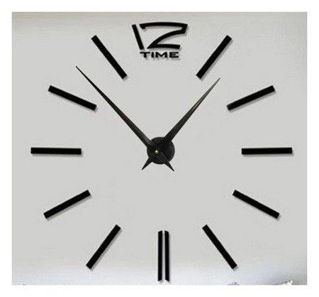 Zegar ścienny naklejany DIY czarny duży 130 cm DIY01B5