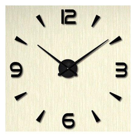 Zegar ścienny naklejany czarny duży 110 cm DIY15B3