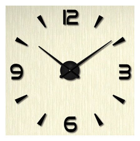 Zegar ścienny naklejany czarny duży 130 cm DIY15B5