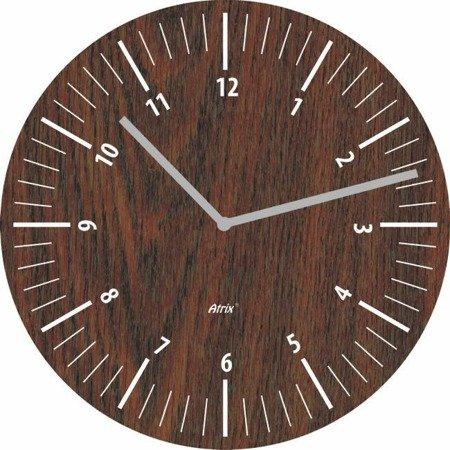 Zegar ścienny płyta MDF brązowy MDF_404