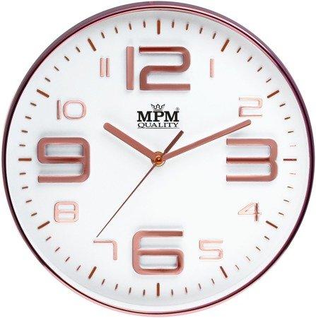 Zegar ścienny różowe złoto nowoczesny czytelny E01.3221.81