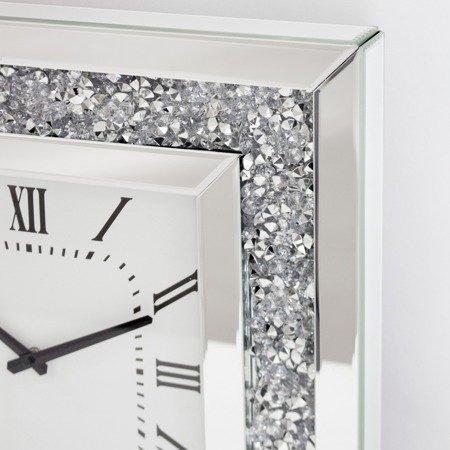 Zegar ścienny stojący PIĘKNY kryształy lustro szkło DUŻY (0,5m) 118184
