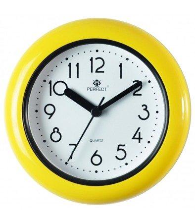 Zegar ścienny stojący WODOODPORNY stojący żółty mały FX-019 Yellow