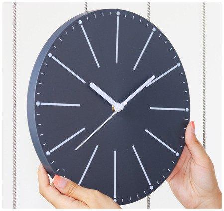 Zegar ścienny szary nowoczesny E01.3692.92