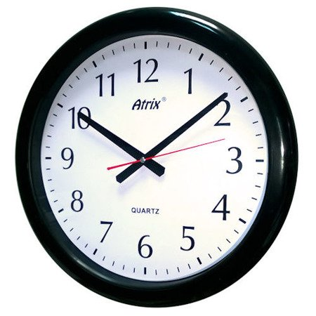 Zegar ścienny wodoszczelny duży ATE740B SW