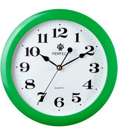 Zegar ścienny zielony nowoczesny czytelny tworzywo LA-17 Green