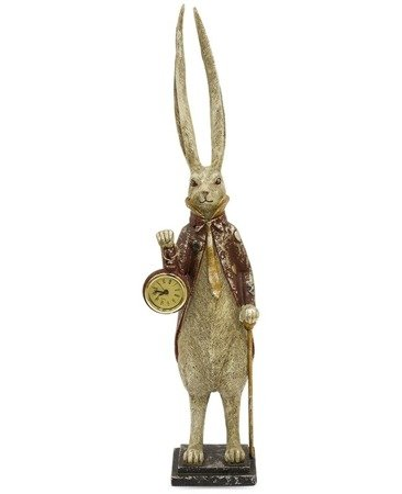 Zegar stojący figurka Królik DUŻA Alicja 114072