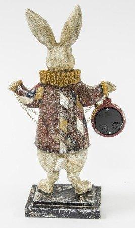 Zegar stojący figurka Królik i Alicja 30 cm 121677